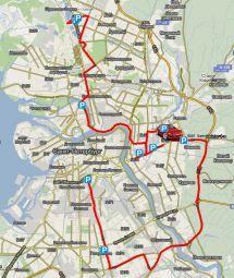 Маршрут, которым следовала команда GARMIN (отмечен линией на карте) оказался самым быстрым