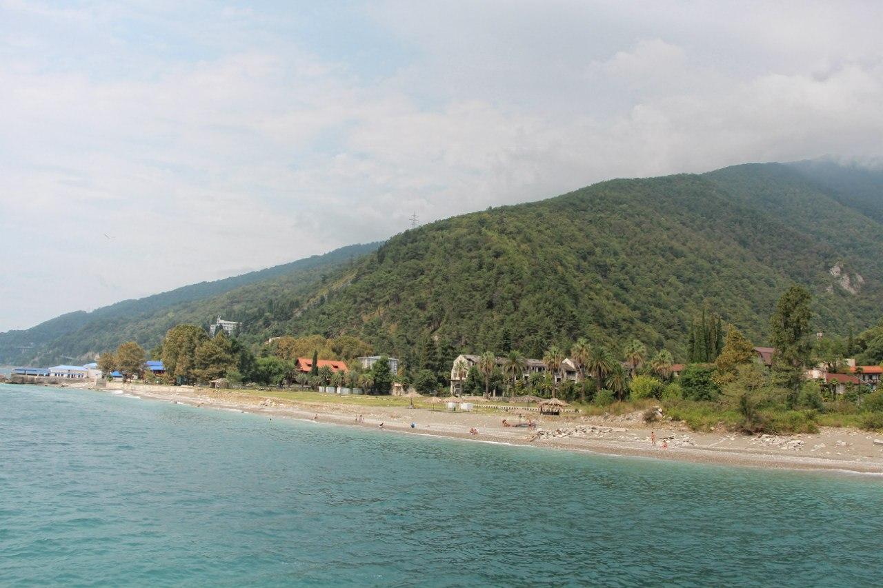 Абхазия фото пляжей и набережной есть