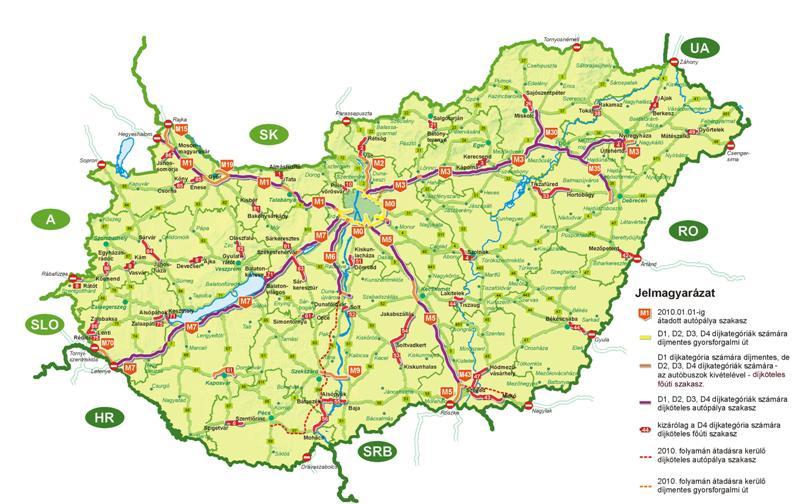 Платные дороги в Венгрии.