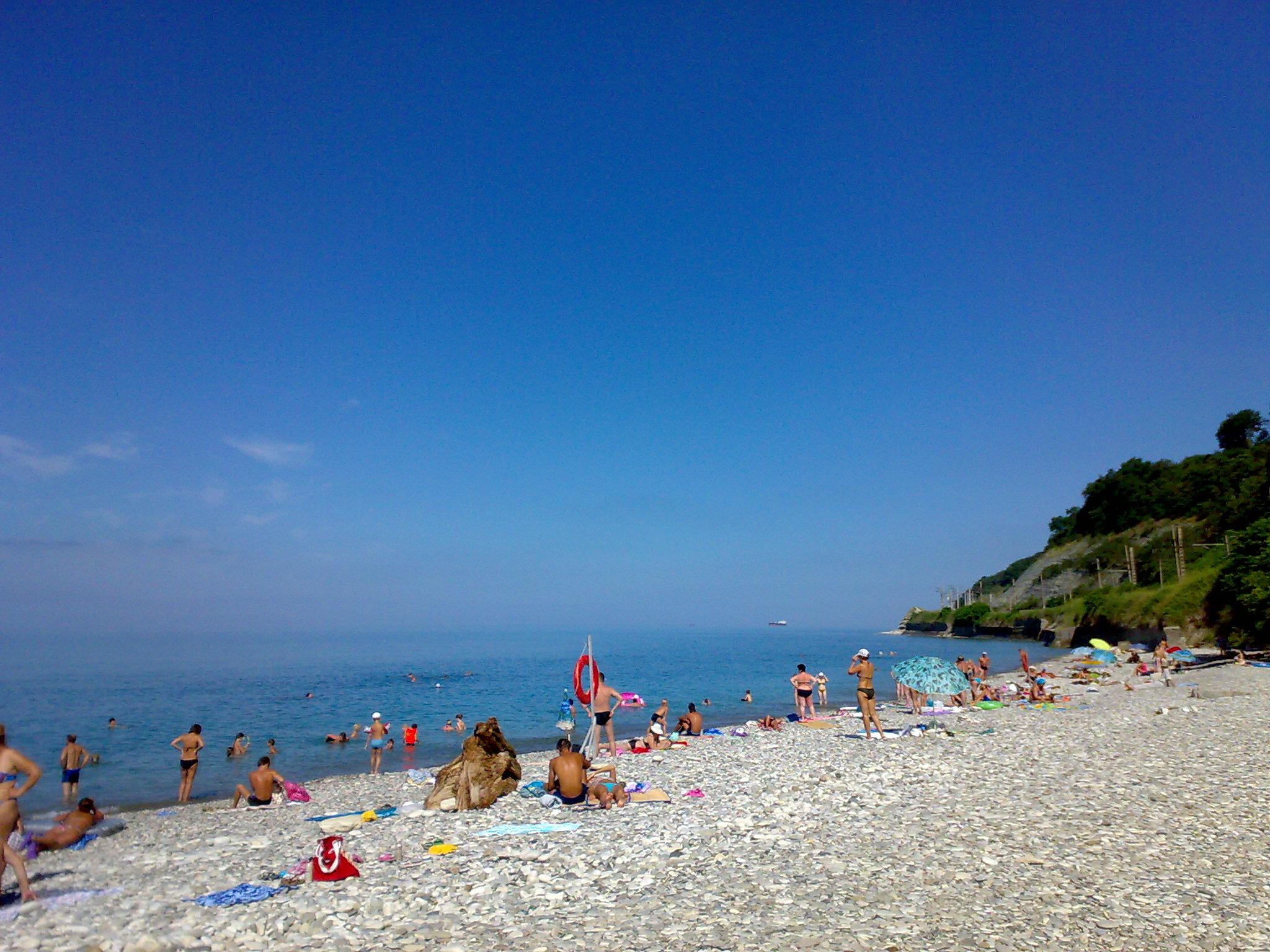 Фото пляжей лазаревское краснодарский край