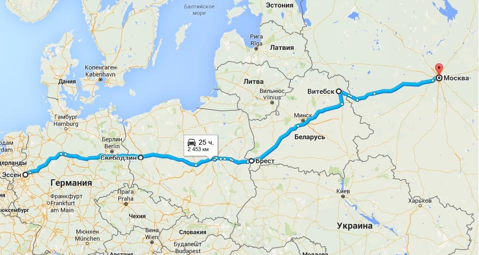 Москва прага на машине