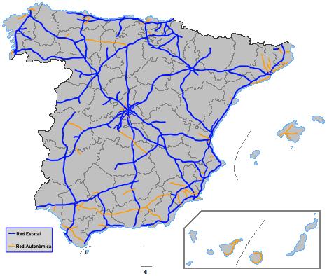 Платные дороги в Испании.